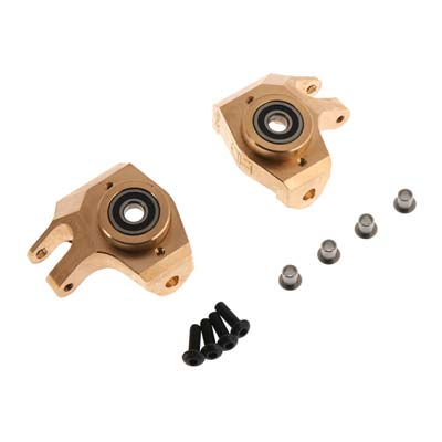 Hot Racing Brass Heavy Metal HD Bearing Front Knuckle SCX
