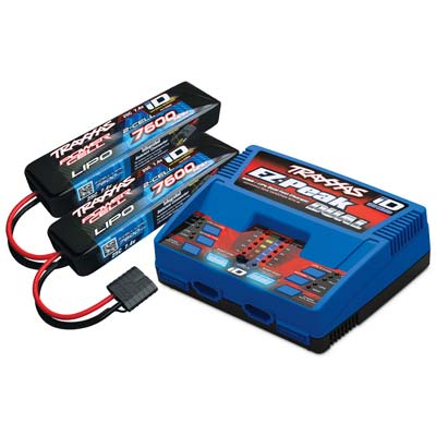Traxxas Battery & Charger Combo Pack, Includes 2972 Dual Id Charger & (2