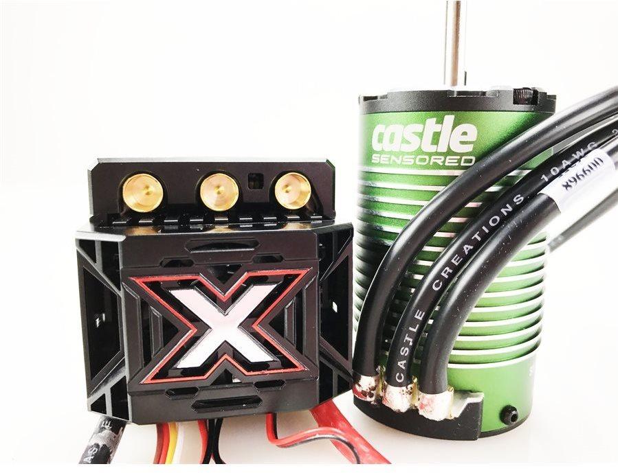 Castle Creations Monster X 25.2V Esc, 8A Peak Bec W/ 1515-2200 Kv Sensored Motor