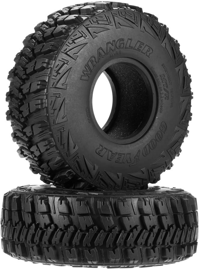 """RC 4WD Goodyear Wrangler MT/R 2.2\"""" Scale Tires"""