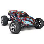 Traxxas Rustler 1/10 Stadium Truck, Hawaiian Edition, Rtr W/ Id Battery