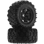 Tires & Wheels, X-Maxx, Glued Left & Right (2)