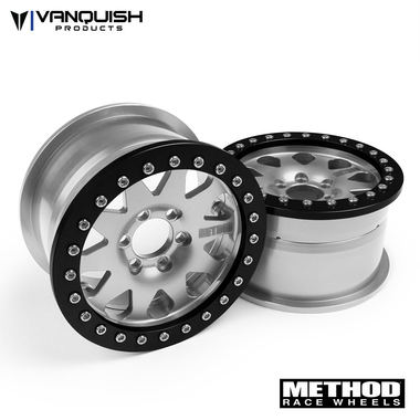 "Vanquish Products Method 2.2 Race Wheel (1.2"" Wide) 101 Clear/Black Anodized"