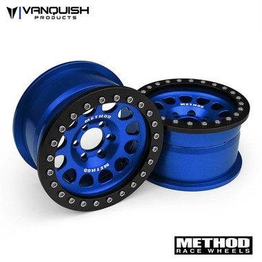 """Vanquish Products Method 2.2 Race Wheel (1.2"""" Wide) 105 Blue/Black Anodized"""