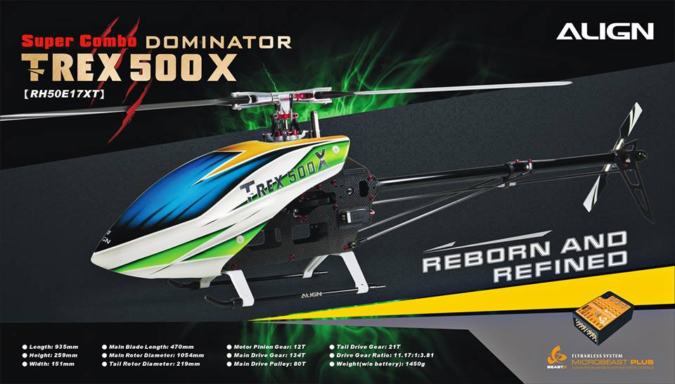 Align T-REX 500X Super Combo (Metal Case Servos)
