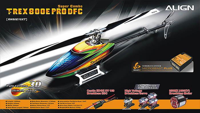 Align T-REX 800E PRO DFC Super Combo