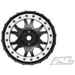 Proline Impulse Pro-Loc Black Wheels w/Stone Gray Rings