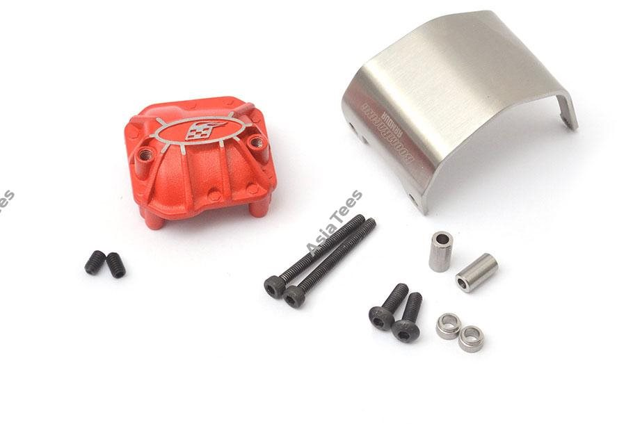 Boom Racing AR44 PHATT Axle Diff Cover W/ ARMOURT Skid Plate