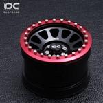 Team DC 2.2 Aluminum Beadlock MR305 NV Red Wheels 2pcs