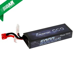 Gens Ace 5000mAh 7.4V 50C 2S1P HardCase Lipo Battery Pack  21# with Deans