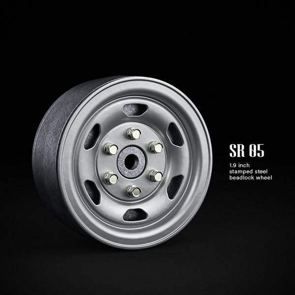 "Gmade 1.9\"" Sr05 Beadlock Wheels (Semigloss Silver) (2)"