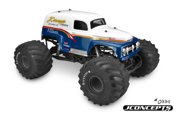 J Concepts 1951 Ford Panel Truck Grandma Body Clear