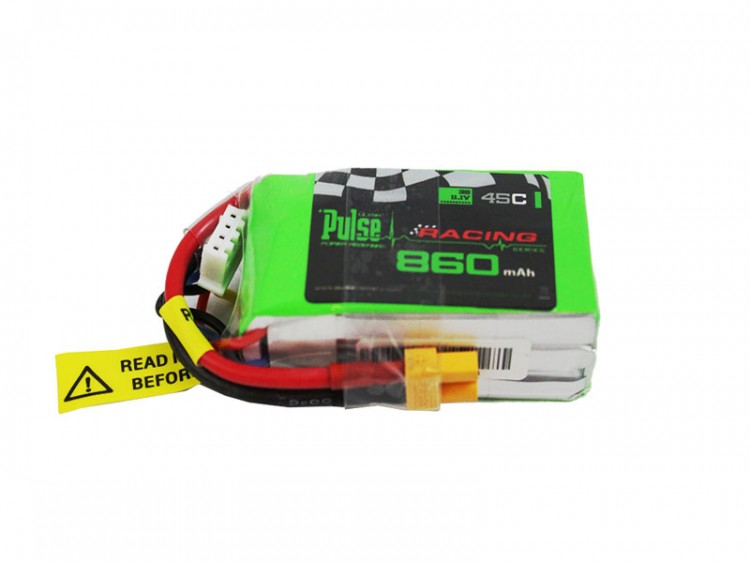 Pulse 860mah 3S 11.1V 45C (XT30 plug) - FPV Racing series - LiPo Batte