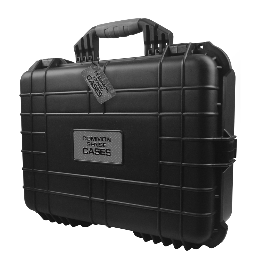 Common Sense RC Premium Weather Resistant Dual Transmitter Case - Black - DIY Fo