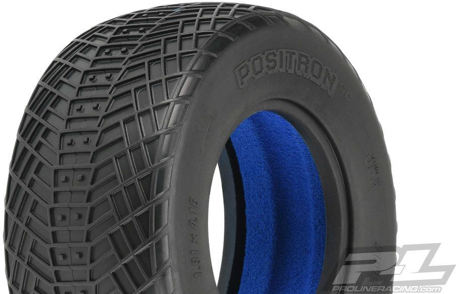 "Proline Positron Sc 2.2\""/3.0\"" Mc (Clay) Tires (2) For Short Course Truck"