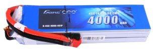 Gens Ace 4000mAh 14.8V 45C 4S1P Lipo Battery Pack Deans plug