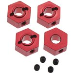 Aluminum Hex Adapters 4Tec 2.0 Red (4)