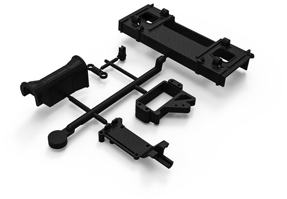 Gmade Battery Tray And Transmission Parts Tree: Gom