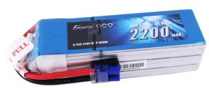 Gens Ace 2200mAh 22.2V 45C 6S1P Lipo Battery Pack with EC3 plug