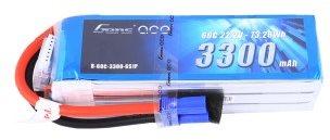 Gens Ace 3300mAh 22.2V 60C 6S1P Lipo Battery Pack with EC5 plug