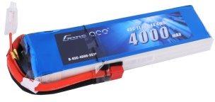 Gens Ace 4000mAh 11.1V 45C 3S1P Lipo Battery Pack Deans plug