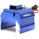 Power Hobby Aluminum Motor Heatsink & Cooling Fan For 1/8 Size Motors, Blue