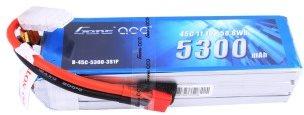 Gens Ace 5300mAh 11.1V 45C 3S1P Lipo Battery Pack Deans plug