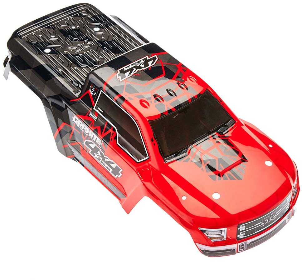 ARRMA Body Painted Decal Trim Red Granite 4x4 Mega