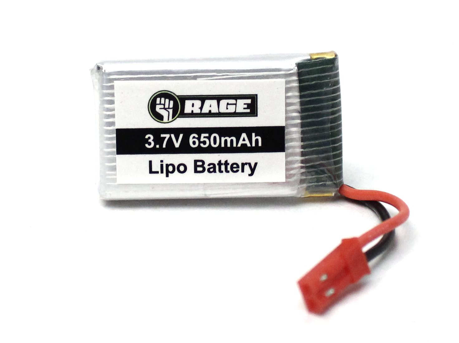 Rage RC 1S 3.7V 650Mah Lipo Battery; Stinger 240