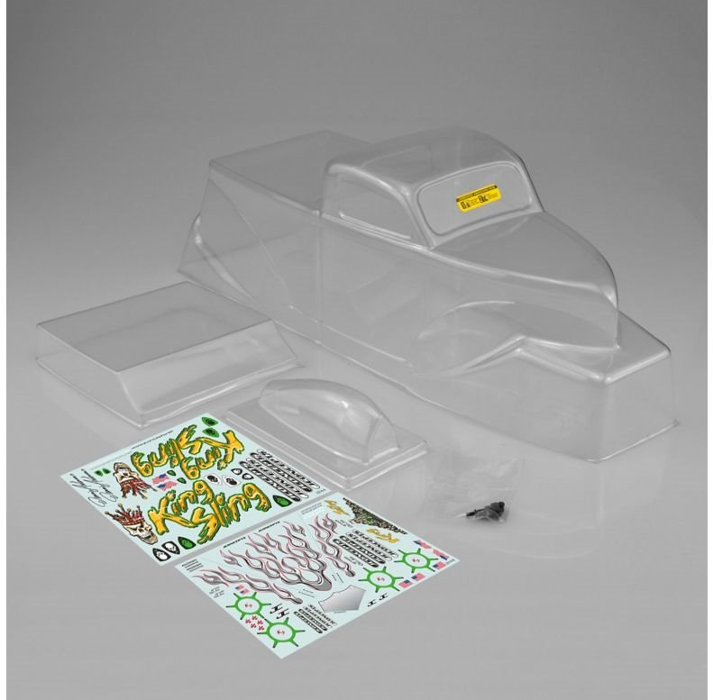 J Concepts King Sling Mega Truck Body w/Scoop Spoiler Clear