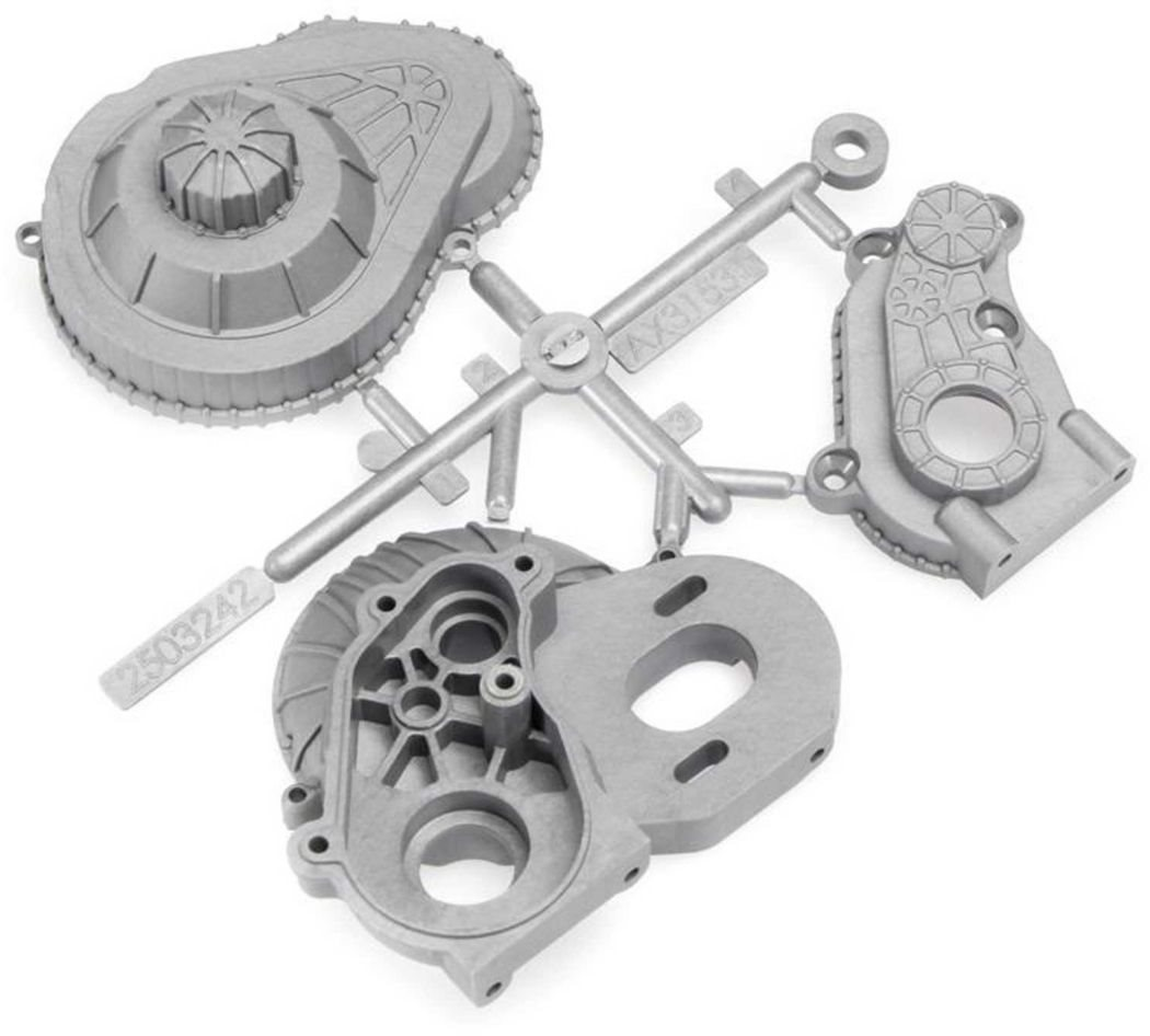 Axial LCX Transmission Case Silver