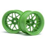 HPI Tech 7 Wheel, Green, 52X26mm, 9Mm Offset, (2Pcs)