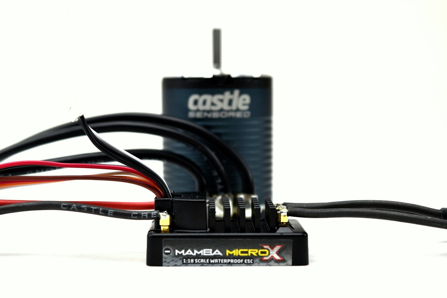 Castle Creations Mamba Micro X Esc (12.6V), W/ 1406 -2280Kv Sensored Brushless Mo