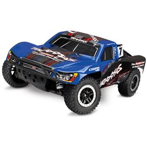 Traxxas Blue Slash 4X4 S.C Truck Rtr, 1/10 Scale, W/ Tsm, And Vlx Brushl