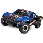 Blue Slash 4X4 S.C Truck Rtr, 1/10 Scale, W/ Tsm, And Vlx Brushl