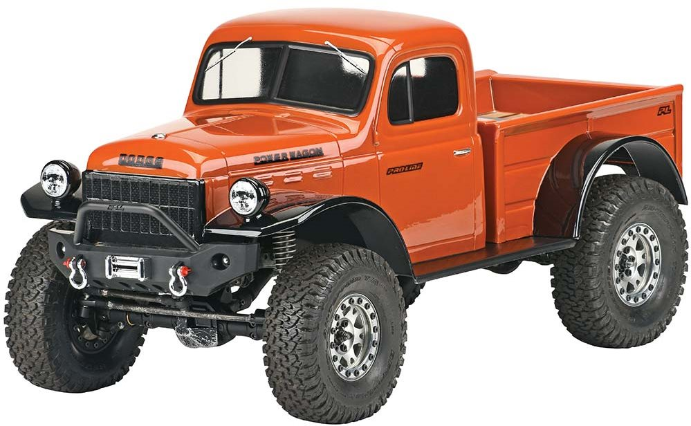 "Proline 1946 Dodge Power Wagon Clear Body 12.3"" Whlbase"