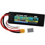 Lectron Pro 2S 5200mAh 35C Lipo With XT60 + CSRC for Traxxas
