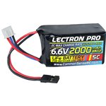 Lectron Pro 6.6V 2000mAh 5C LiFe Receiver Hump Pack with Servo C