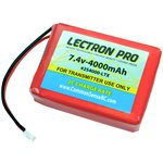 Lectron Pro 7.4V 4000mAh Lipo TX Battery for the Spektrum DX7S,