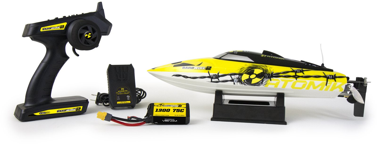 Atomik Barbwire 2 Rtr Brushless Racing Boat