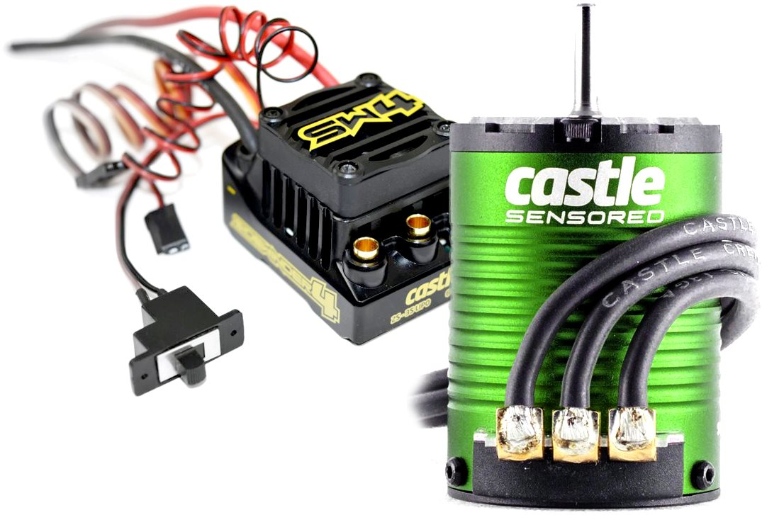 Castle Creations Sidewinder 4 Waterproof Sensorless Esc, W/ 1406-4600Kv Sensored