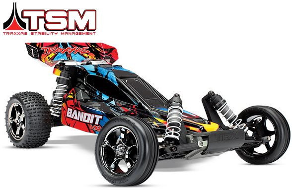 Traxxas Bandit Vxl Extreme Sports Buggy, 1/10 Scale, Brushless