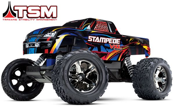 Traxxas Stampede Vxl Monster Truck, Rtr, 1/10 Scale, Brushless