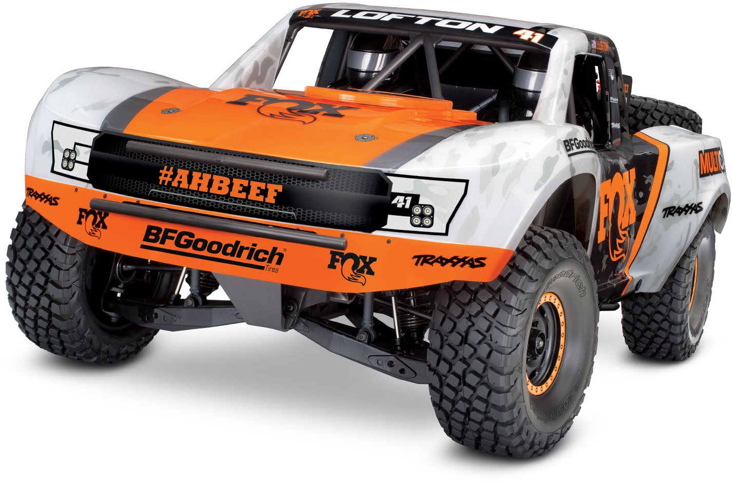 Traxxas Unlimited Desert Racer (Fox) 4WD Electric Race Truck with TQi Tr