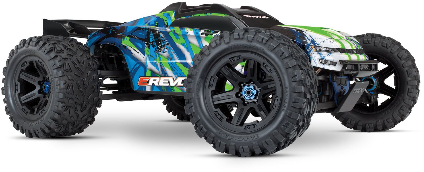 Traxxas E-Revo VXL Brushless Green: 1/10 Scale 4WD Brushless Electric Mo