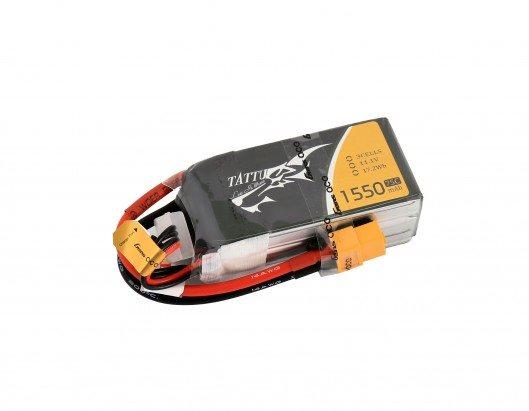 Gens Ace Tattu 1550mAh 11.1V 75C 3S1P Lipo Battery Pack with XT60 plug