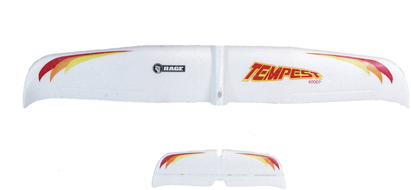 Rage RC Main Wing And Tail Set; Tempest 600