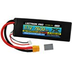 Lectron Pro 11.1V 7600mAh 75C Lipo Battery with XT60 + CSRC to T