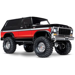 Traxxas TRX4 Ford Bronco Red: 4WD Electric Truck with TQi Traxxas Link E