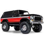 TRX-4 Ford Bronco Red: 4WD Electric Truck with TQi Traxxas Link
